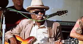 John Lee Hooker at the Long Beach Music Festival, August 31, 1997