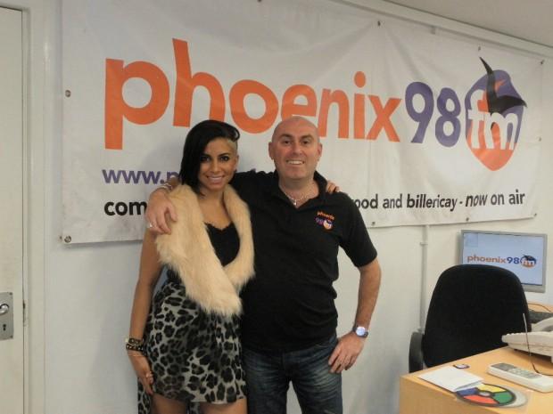 Tara in the Phoenix fm Studio