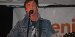 Sam Callahan performing at our Phoenix in the Foyer event back in March
