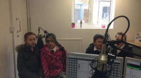 Hogarth School Children talk Brentwood Lighting up & sing live in the studio