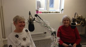 Syliva Kent & Frances Clamp with December's Book Club