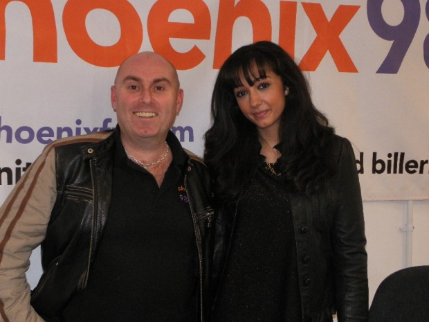 Goldi at the phoenix fm studio