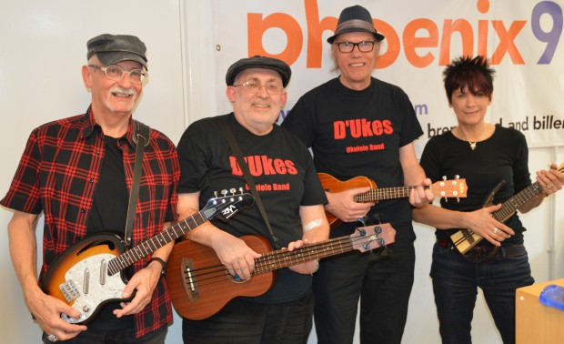 Brian, John, Dave and Hazel of D'Ukes