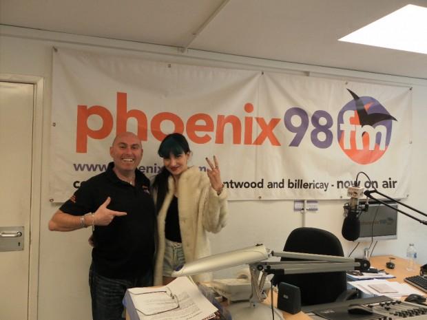 Dorine Levy at the Phoenix fm studio