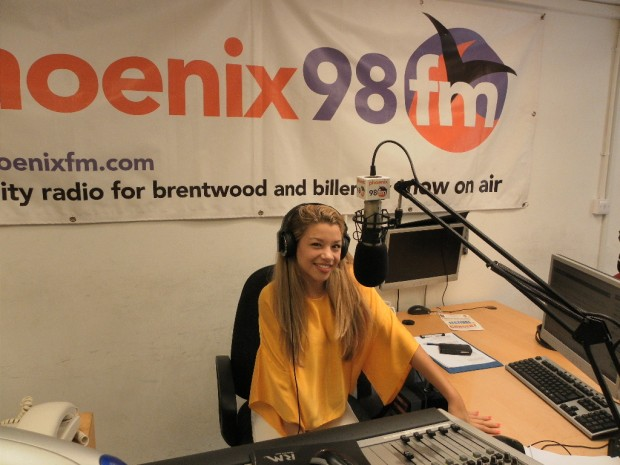 Molly at the controls at phoenix fm