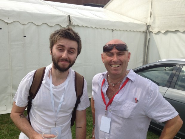 Tony with James Buckley
