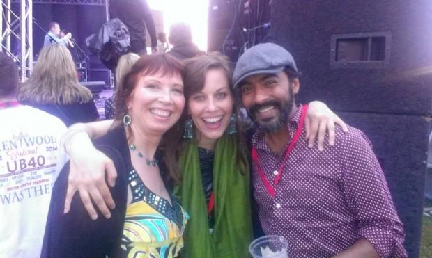 Kate Thomas with Mel and Vic