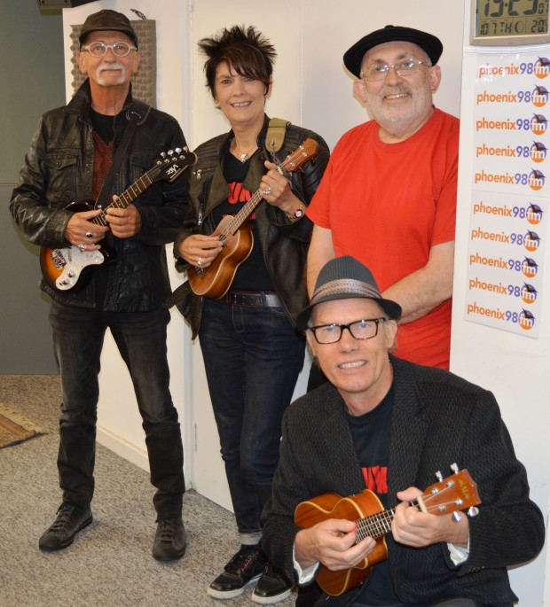Brian and Hazel Smith, John Mattock and Dave Warren of D'ukes