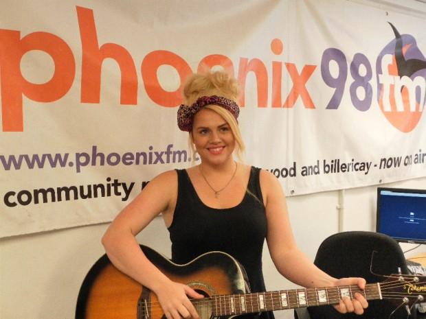 Katie Coleman in studio 1