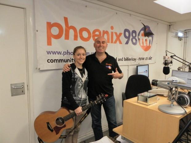 Abbie at Phoenix fm studio 1