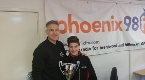 Lochlan Bearman Brings his Trophy to Phoenix FM