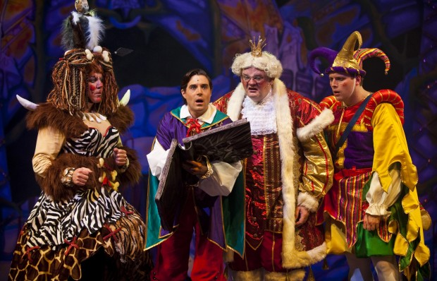 Simon Jessop, Thomas Sutcliffe, Fred Broom, Sam Pay (Sleeping Beauty, Queen's Theatre, Hornchurch, 2014) by Mark Sepple