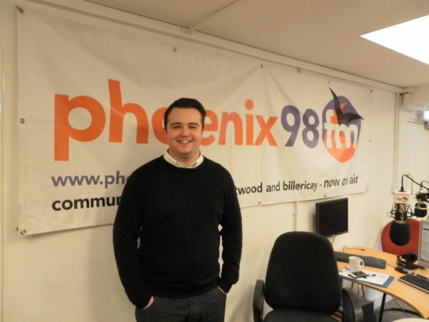 Sam Knight in phoenix fm studio 1