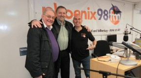 Jem Treherne & Robin from Brentwood Foodbank on Sunday Lunch