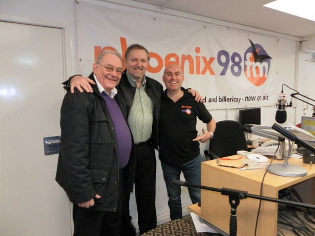 Robin and Jem from Brentwood foodbank in studio 1