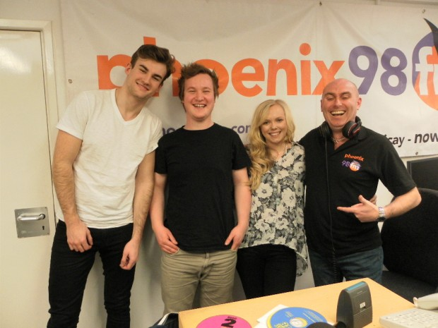 Patrick, George, Emily and myself..for once I was not the shortest one!! hehe