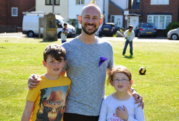 Daniel Jon Groom from Wellbeing Yoga Brentwood with nephew Jack and Niece Chloe