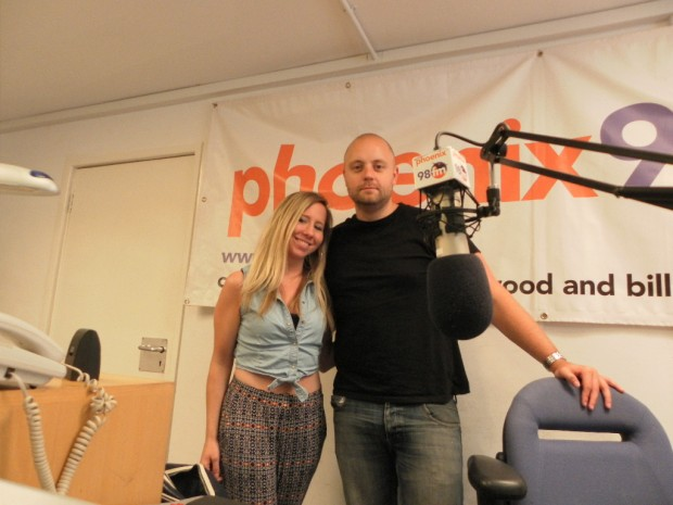 Maddy and Phil in studio one
