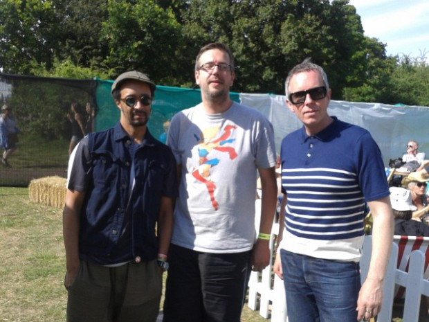 2015-07-11 59 Southend Village Green - Chris with Dean Chalkley and Harris Elliott (Nick Field)