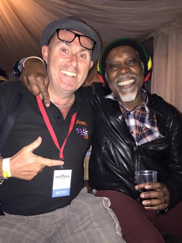In the Green room with Billy Ocean