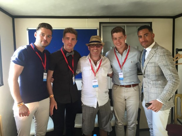 Jack Pack back stage at the Brentwood Festival