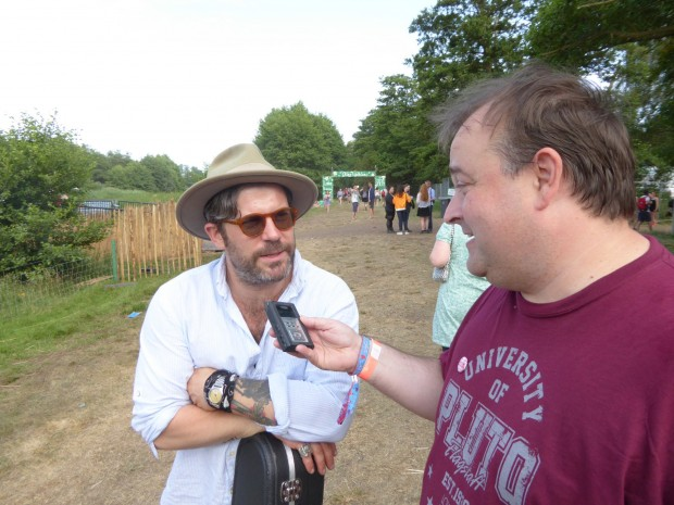Paul with Ed Harcourt