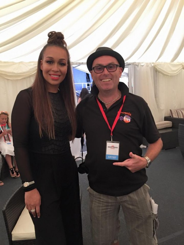 Back Stage with Rebecca Ferguson