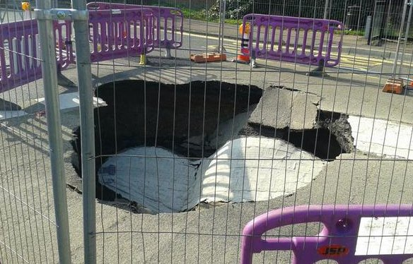 ongar road sink hole
