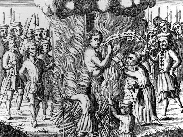 Burning of William Hunter