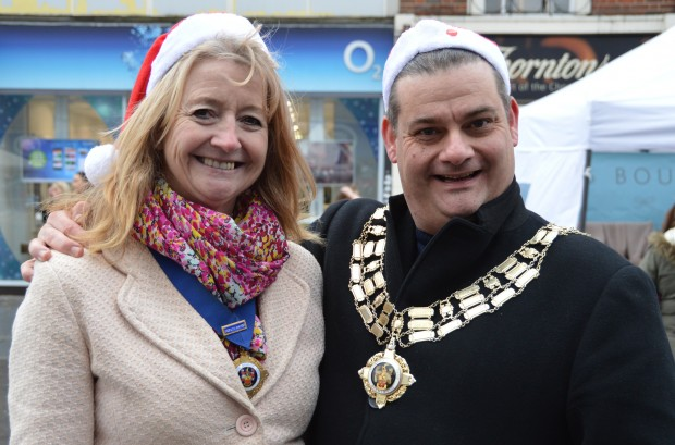 Noelle Hones (Deputy Mayor) and Mark Reed (Mayor of Brentwood)