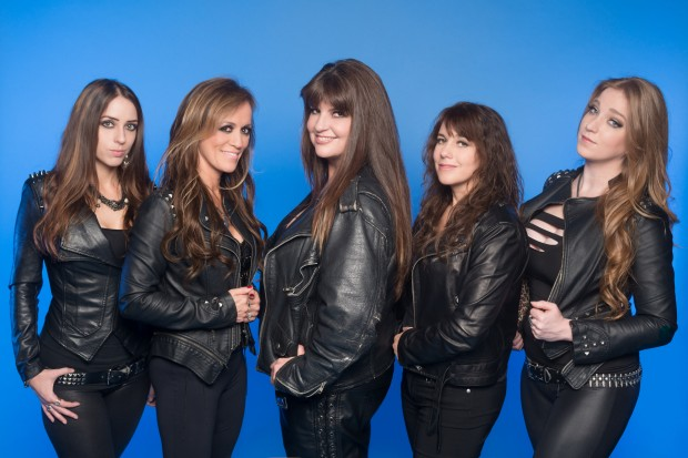 Nikki Stringfield (left) and the rest of The Iron Maidens