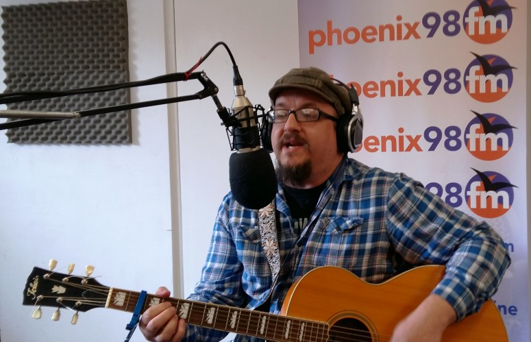 Stephen Rudd performing live in studio 1