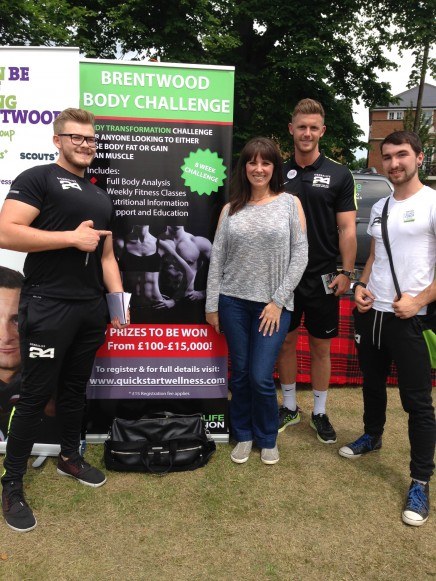 2016-06-11 Strawberry Fair (Xanthe) 02 Xanthe and Fitness Instructors