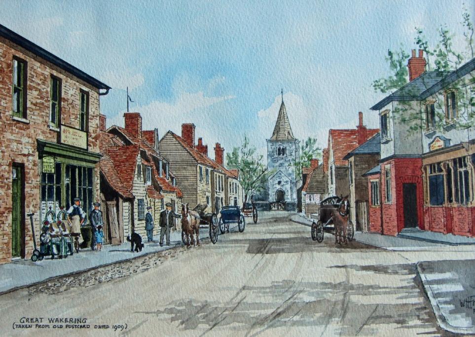 Watercolour_Postcard_HighStreet_GreatWakering_1909.jpg