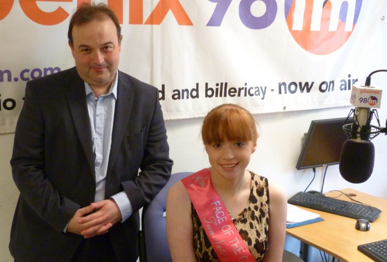 Phoenix FM Chairman Paul Golder with Courtney-Lee