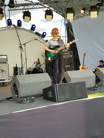 Emma McGrath with her band