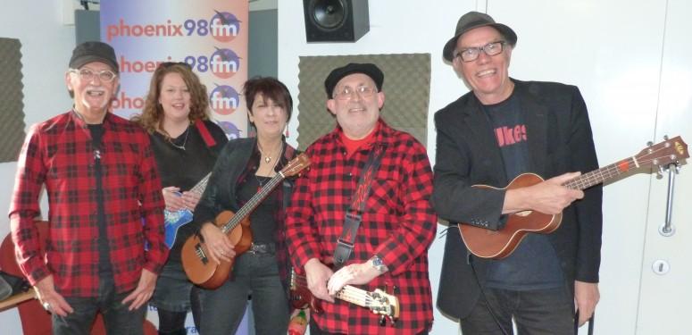Brian, Jo, Hazel, John and Dave (minus Martin) - D'Ukes
