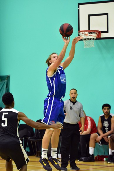 Kent Crusaders v Essex Leopards, 30 Oct 2016; Jamie Hayes with the jump-shot