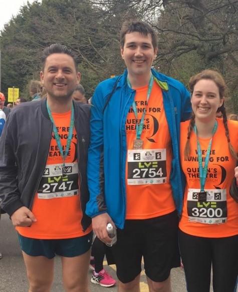 Douglas Rintoul, Tom Lowe & Abi Booth - Half Marathon runners