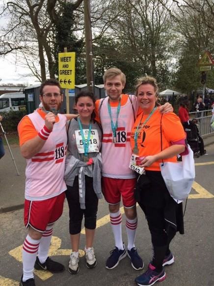 Lewis Tomlinson, Peter Thorne & Claire Bailey-Day - 5K runners