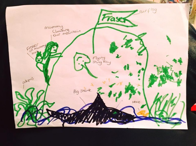 Fraser's Drawing of the Climb!