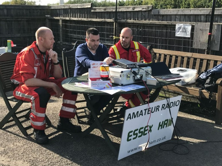 Air Ambulance Crew at Earls Colne
