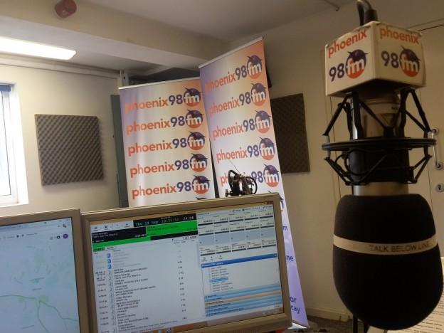 Phoenix FM Studio during Charlie's Show