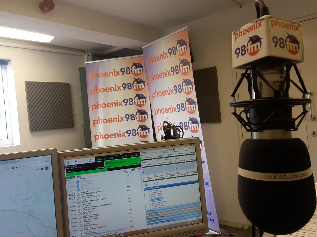 Phoenix FM Studio during Charlie's Show