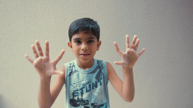 *** VIDEO AVAILABLE ***    **CONDITION OF USAGE** Body Bizarre is on Thursdays at 10pm on TLC UK.**    BRASILICA, BRAZIL - UNDATED: Seven-year-old Guilherme holding up his hands with six fingers.    A FAMILY of fourteen who were born with six fingers and six toes celebrate a new addition to the family - a baby boy with same genetic abnormality. Most would find having an extra digit a distressing deficiency, but the extraordinary De Silva, from Brazil, family have turned it to their advantage.    **CONDITION OF USAGE** Body Bizarre is on Thursdays at 10pm on TLC UK.**    PHOTOGRAPHY: Discovery / Barcroft Productions