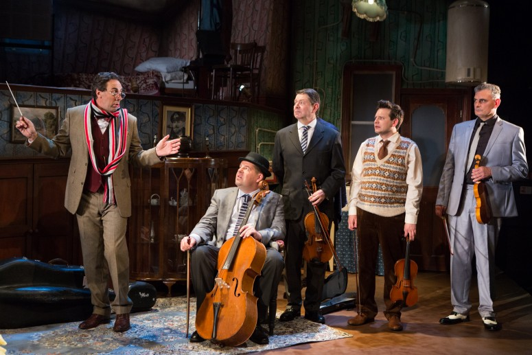 The 'Musicians'. The Ladykillers at the New Wolsey Theatre. Photo Mike Kwasniak