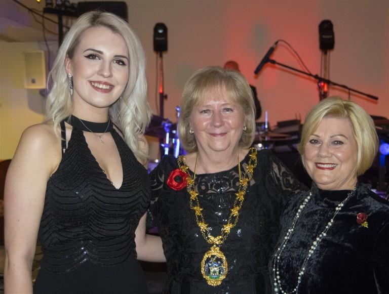 Charlotte Willis, Mayor Linda Huggett and GoldenTicket Winner
