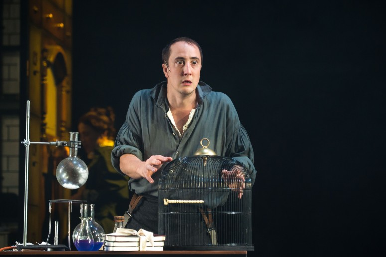 Matthew Spencer in The Invisible Man - Queen's Theatre Hornchurch. Photo credit Mark Sepple