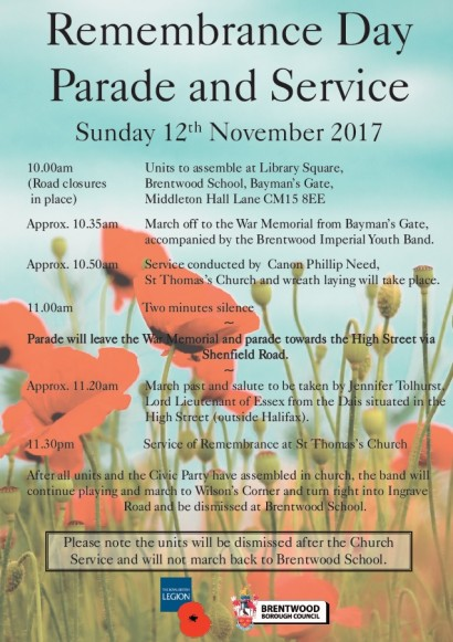 Remembrance Day 2017 poster