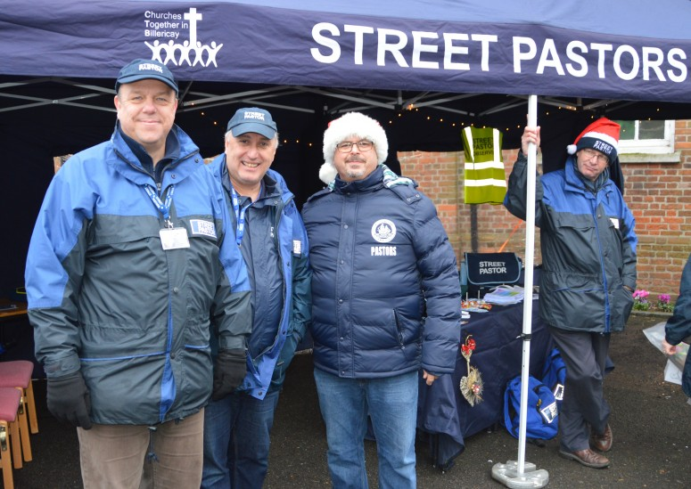 The Street Pastor Team at Billericay Christmas Market this year.